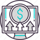 business, cash, currency, online, payment icon