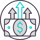 business, cash, currency, finance, investment, payment icon