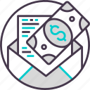 business, cash, currency, email, payment icon
