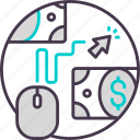 business, cash, click, currency, pay, payment icon