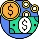 business, cash, currency, money, payment icon