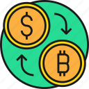 business, cash, currency, exchange, money, payment icon