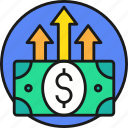 business, cash, currency, investment, money, payment icon