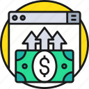 business, cash, currency, money, online, payment icon