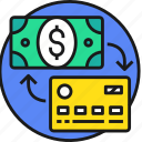 business, card, cash, credit, currency, money, payment icon