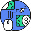 business, cash, click, money, pay, payment icon