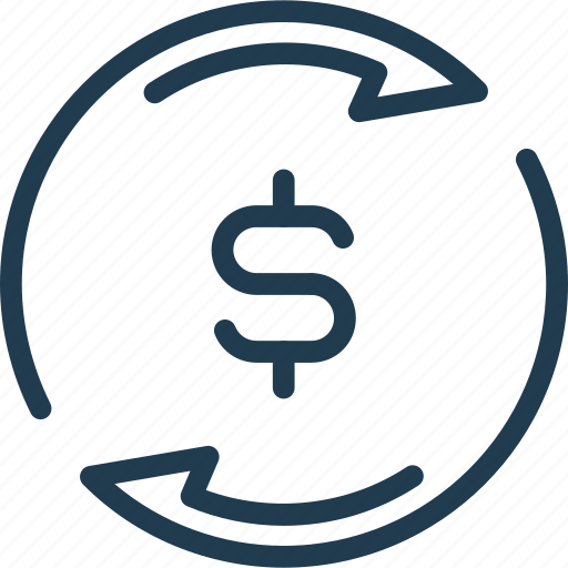 dollar, exchange, money, pay, payment, refresh, update icon
