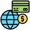 credit, global, paid, payment, trade