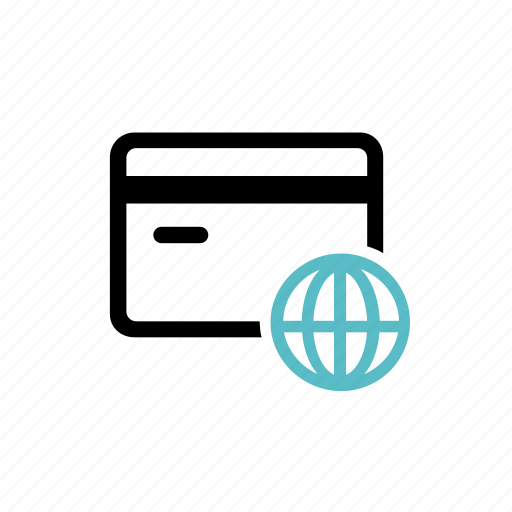 bill, card, creditcard, global, globalpayment, globalpurchase, payment icon