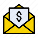 invoice, email, message, pay, bill