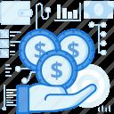 cash, coin, dollar, finance, hand, money, payment