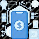 dollar, finance, mobile, money, online, phone, smartphone