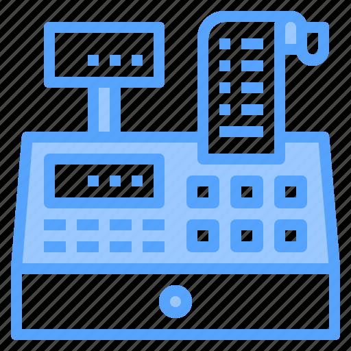 banking, cash, cashier, machine, payment, register, technology icon