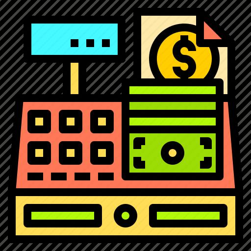 banking, cashier, credit, machine, point, sales, technology icon