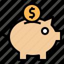 bank, finance, money, piggy icon