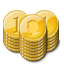 base, coin, gold, stacks icon