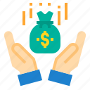 bag, cash, financial, money, payment, transfer