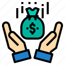 bag, cash, financial, money, payment, transfer icon