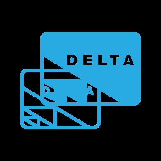 card, credit, delta, money, online, pay, send icon
