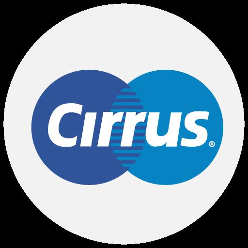 cirrus, finance, logo, method, payment icon