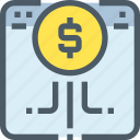 banking, browser, business, digital, money, online, payment icon