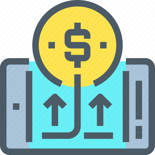 banking, finance, mobile, money, payment, smartphone icon