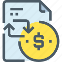 bank, banking, document, file, finance, payment icon