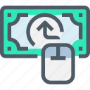 arrow, banking, digital, money, online, payment icon