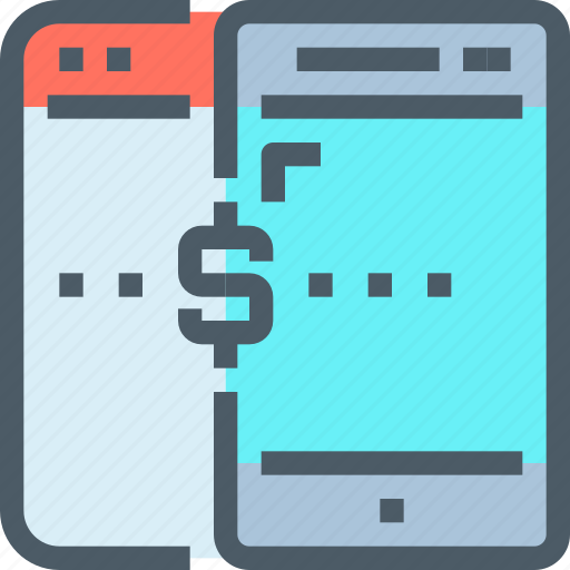 banking, browser, digital, mobile, payment, smartphone icon