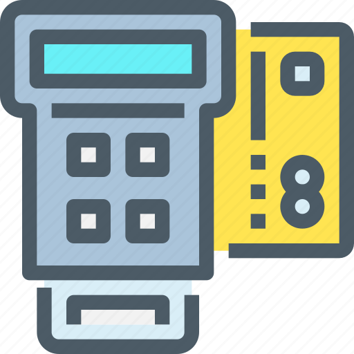 bank, card, cash, credit, payment, register, shopping icon