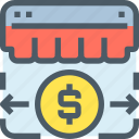 arrow, banking, money, payment, shop, shopping, store icon