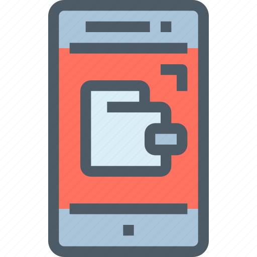Smartphone, office, mobile, wallet, online, payment icon