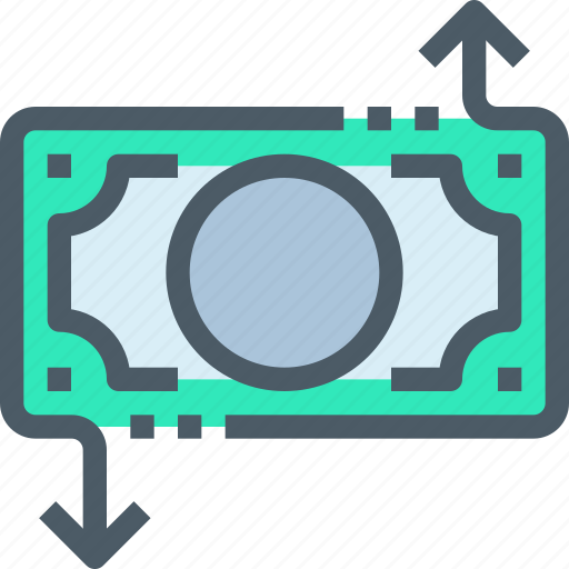 arrow, bank, banking, money, payment, shopping icon