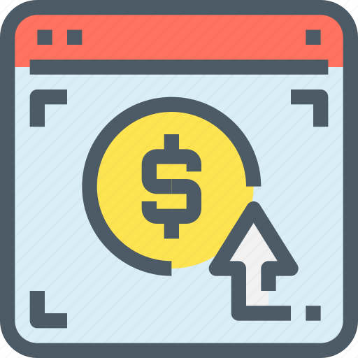 banking, browser, click, money, pay, payment, web icon