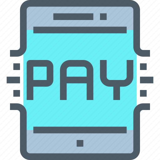 Smartphone, shopping, tablet, mobile, banking, payment icon