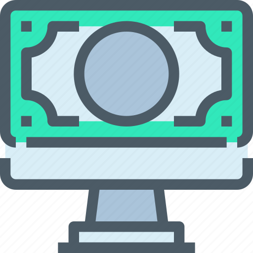 banking, computer, moeny, online, payment icon