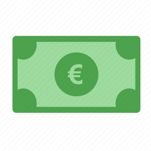 business, cash, currency, euro bill, money, pay icon