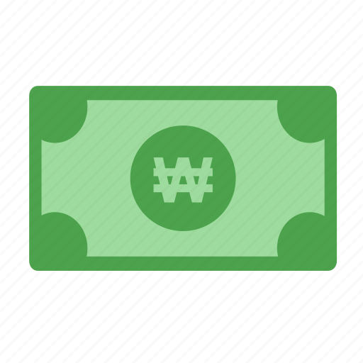 cash, currency, korea won, payment, won icon