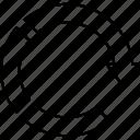 arrow, chart, graph, refresh icon