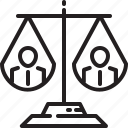 scale, people, justice, rights, human, balance icon