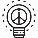 human, idea, lightbulb, peace, rights icon