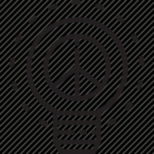 human, idea, lightbulb, peace, rights icon
