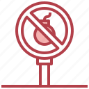 bomb, war, forbidden, no, weapons icon