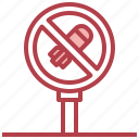 no, war, bomb, weapons, pacifism, signaling icon