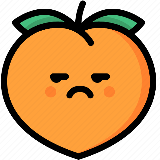 annoying, emoji, emotion, expression, face, feeling, peach icon