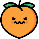 confounded, emoji, emotion, expression, face, feeling, peach