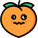 dizzy, emoji, emotion, expression, face, feeling, peach icon