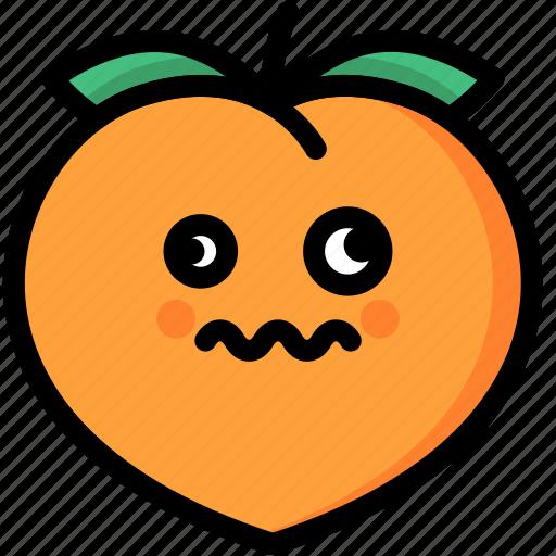 dizzy, emoji, emotion, expression, face, feeling, peach icon