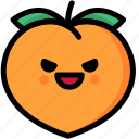emoji, emotion, evil, expression, face, feeling, peach icon