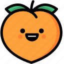 emoji, emotion, expression, face, feeling, happy, peach icon